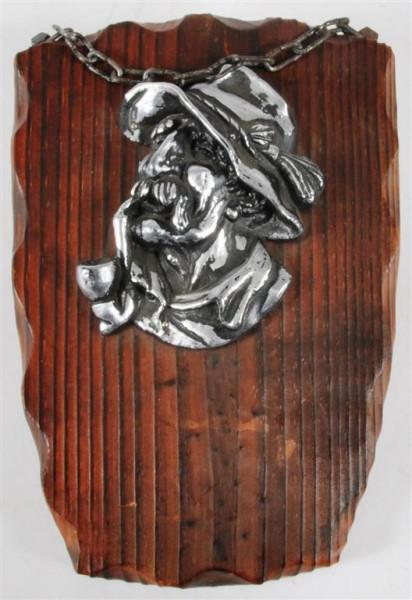 Holzbild m. Motiv ca. 24x15,5 cm