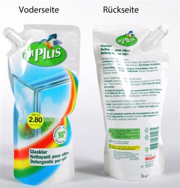 MPlus Glasreiniger 500 ml Beutel (Nachfüllpackung)