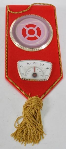 Bild rot mit Thermometer u. Quaste ca. 22x11 cm