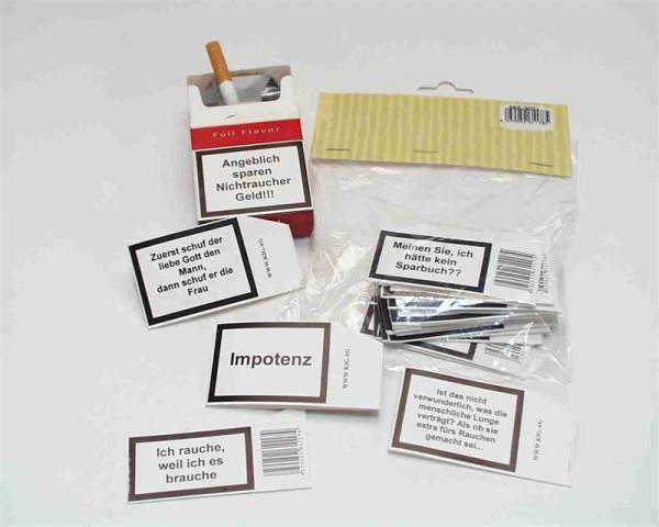 12er-Set Rauchersprüche PBH, ca. 7,5x4cm