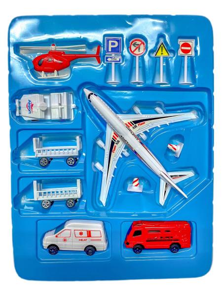 Flughafen Spiel-Set sort. GK ca. 39,5x26x6 cm