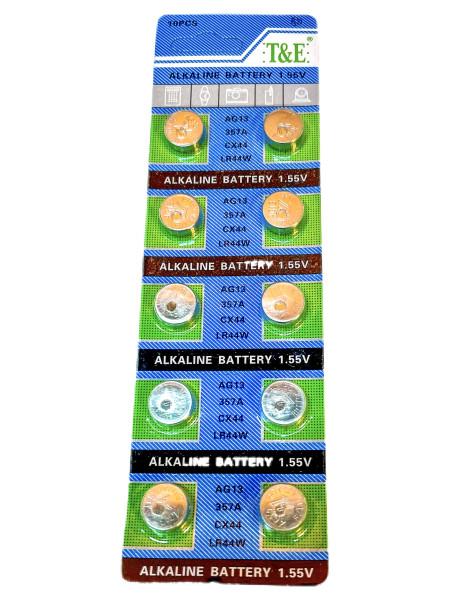 Batterie Knopfzelle 10er set AG13, 357A, CX44, LR44W BC