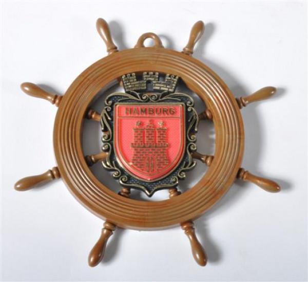 Schiffsrad m. Wappen Hamburg ca. D: 15 cm