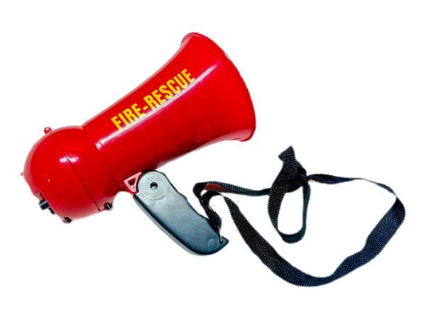 Feuerwehr Megaphone mit Sound GK ca. 15x14cm