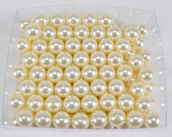 """Perlen rund creme ca. 15mm ca. 250gr. """"73142011500"""""""