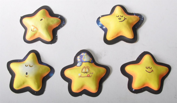 """Sticker 3D """"Crazy Stars"""" Glow in the dark AK ca. 22x16cm"""