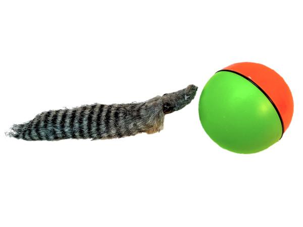 Ball mit Wiesel GK, ca. D: 8cm, L: 28cm
