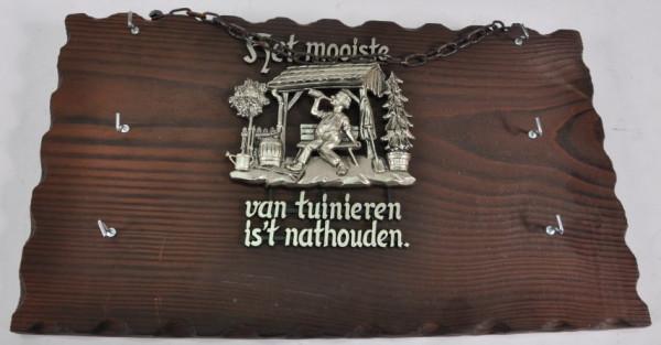 Schlüsselbrett mit niederlän.Spruch ca. 40x22,5 cm