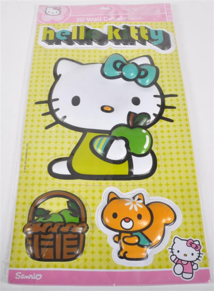 Hello Kitty Grün 3D ca. 59x27 cm