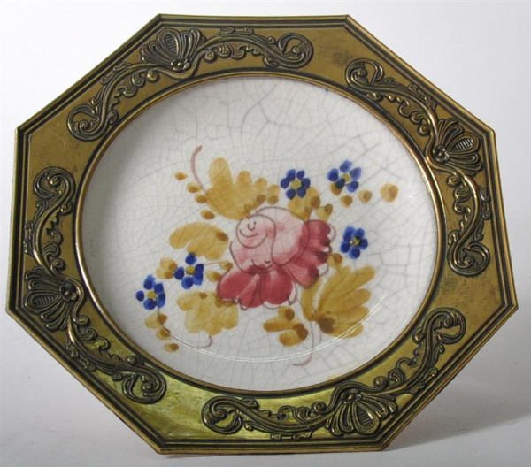 """Wandteller """"Blumenmotiv"""" ca. 20,5cm D"""