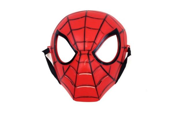 Maske Spinnenform, farb. sort OPP, ca. 21x16x7 cm