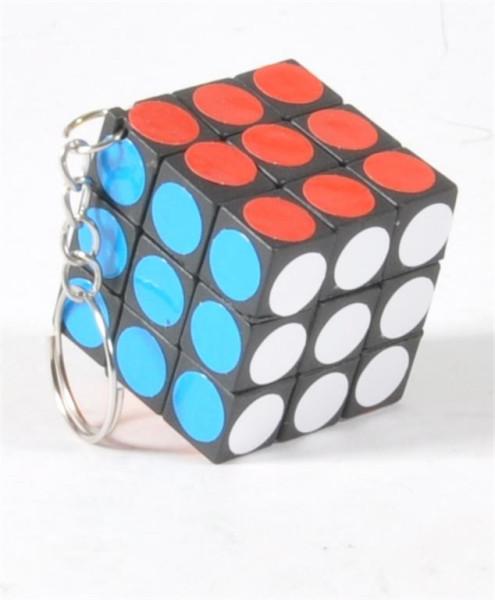 SK-Zauberwürfel Puzzlewürfel rund.Klebern OPP, ca. 3x3x3 cm
