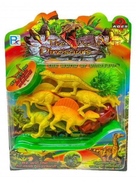 Dinosaurier Set sort. AK, ca.25x21 cm