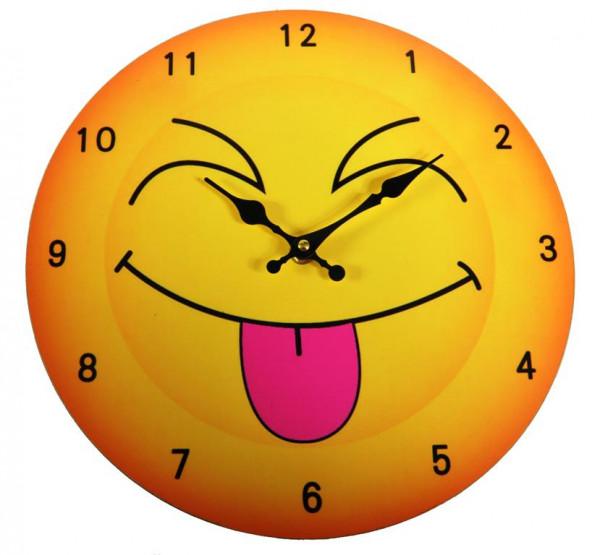 Emoticon Uhr MDF Holzplatte WB, Durchm.ca. 30cm