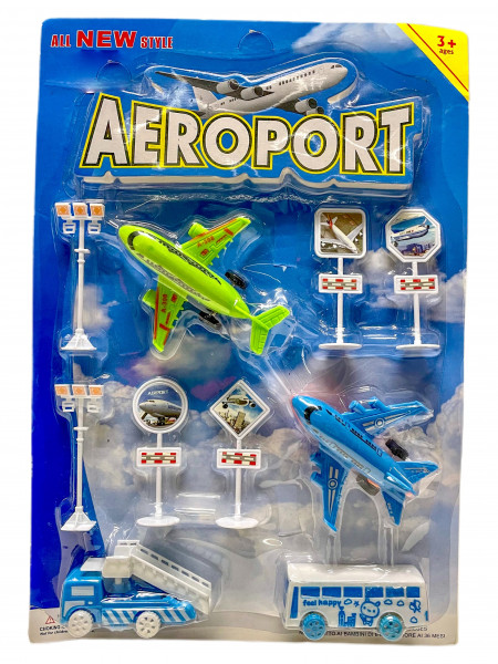 Flughafen Spielset AK ca. 26c38x5cm