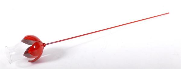 Glaswindlicht auf Metallstab 3fach sort ca. D: 11 cm, L: 95,5 cm