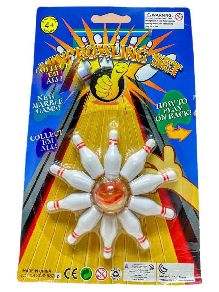 Bowling Set mit 1 Murmel AK Karte ca. 23x15cm