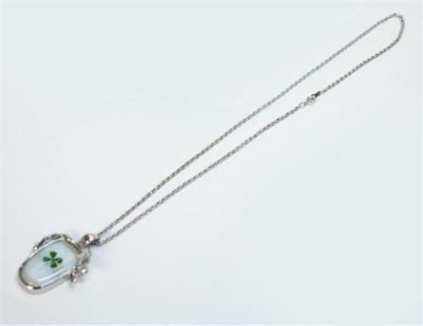 Halskette Glückskleeblatt 6fach sort. OPP, ca. L: 34cm