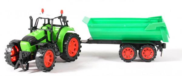 Traktor m. Anhänger WB, ca.33x9x9 cm