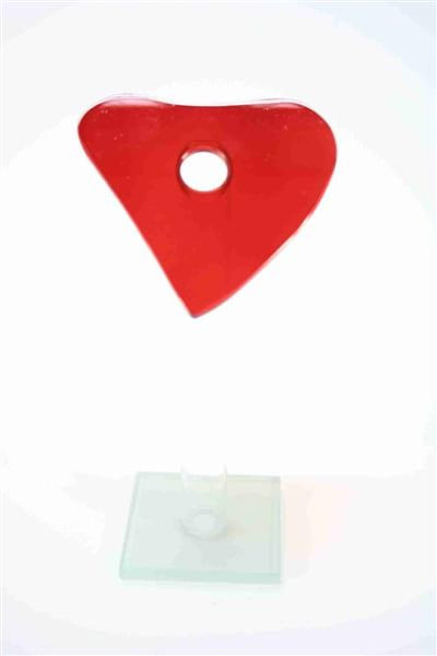 Glasvase Herz FB, ca. 11x9,5x22,5cm