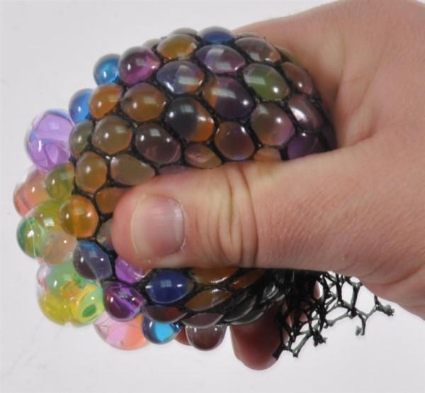 Knautschball im Netz bunt DIS, D: ca. 6 cm