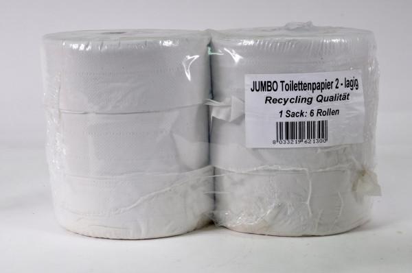 6 Rollen Jumbo Toilettenpapier 2lagig Recycling Qualität