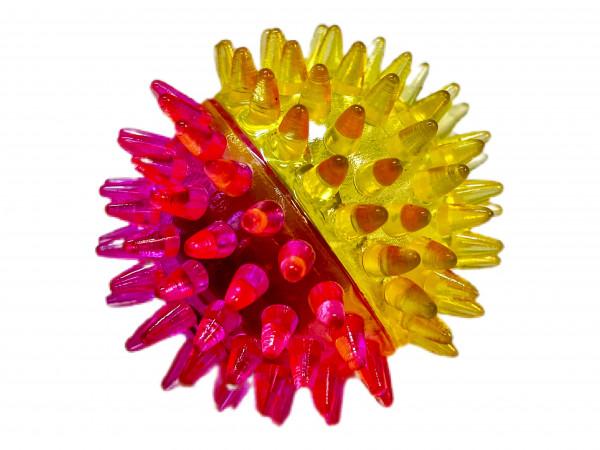 Igelball Musik m. Licht farbl. s. OPP+DIS, ca. D: 6,5cm