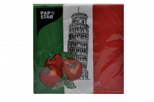 "Servietten Pap Sta""Italy"" 33x33cm 50 Stück Pack Sorte 15"