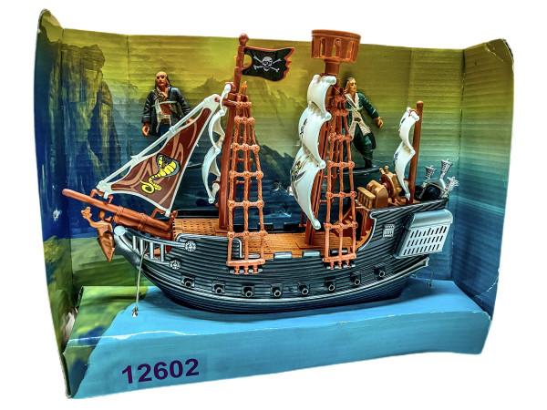 Piraten Schiff Set sort. WB, ca. 29x10x23cm