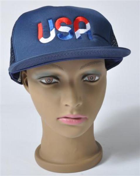 "Kappe ""USA"" 2farb. sort. ca. 24x19,5 cm"