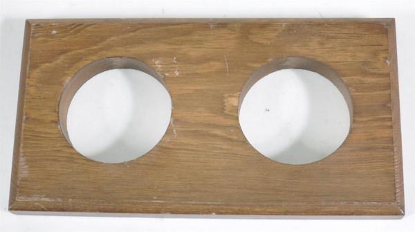 Holzplatte mit 2 Löchern ca.21,5x10,5 cm