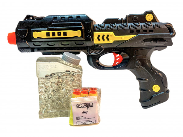 Pfeil + Gelkugelpistole GK, Pistole ca.33x19x4,5 cm