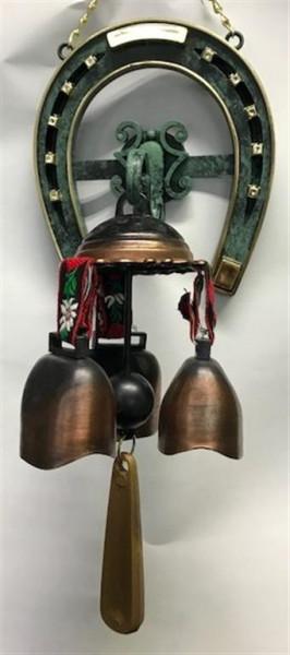 Hufeisen mit 3er Set Glocke ca. 18x13 cm