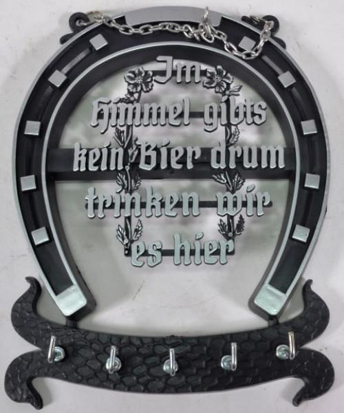 Schlüsselbrett Hufeisen m. Spruch ca. 22x16,5cm