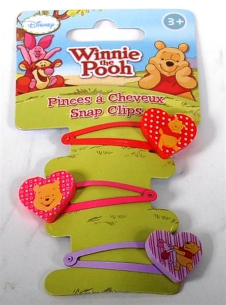 "3er Set Haarclips ""Winie Pooh"" AK ca. 14,5x5,5cm"