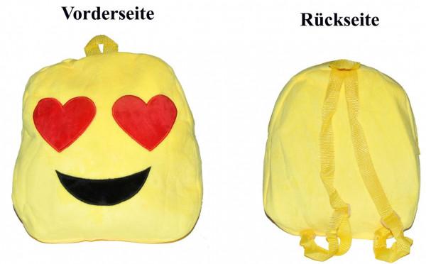 Emoticon Rucksack 6fach sort. PB ca. 30x22cm