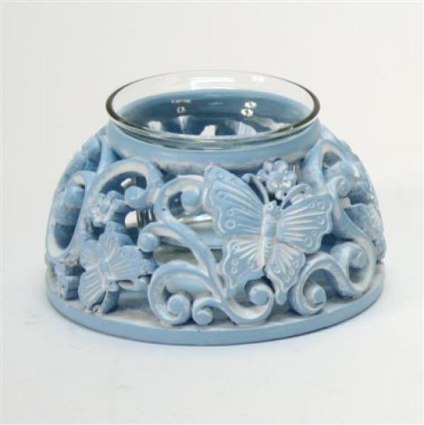 Teelichthalter 3farb. sort. PB; ca. D: 10,5cm H: 5,5cm