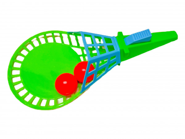 Fangballspiel mit 2 Bällen sort. OPP ca. 27x13x6,5cm