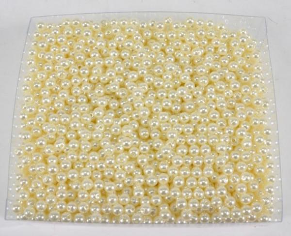 """Perlen Rund creme ca. 6 mm ca. 250 gr. """"73102011500"""""""