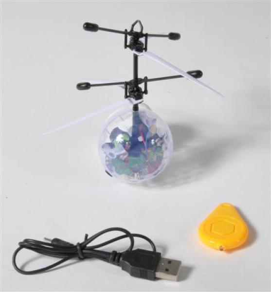Lichtball-Hubschrauber m. R/C GK, ca. 19x19x6 cm