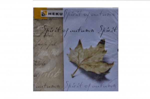 """Servietten Heku """"Spirit of Autum"""""""" 33x33 cm 20Stück Pack Sorte 4"""