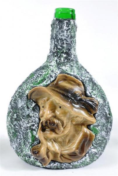 """Dekor Flasche """"Mann mit Pfeife"""" ca. 21x14,5cm"""