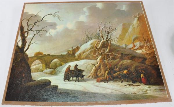 """Bild """"Winterlandschaft"""" ca. 53x43 cm"""