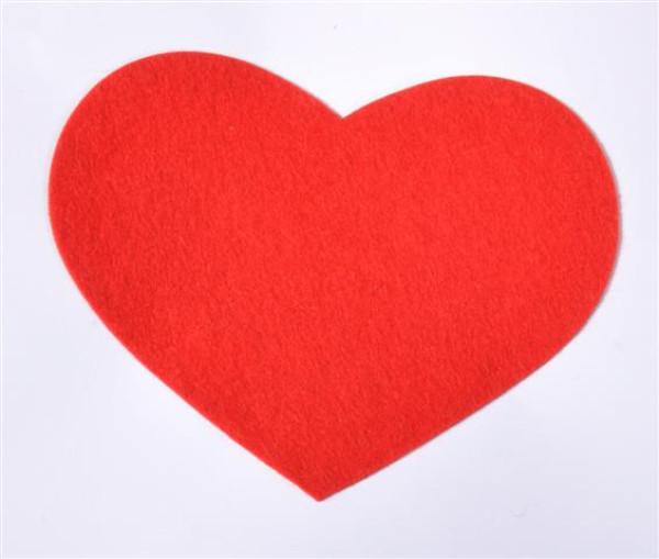 Herz klebend ca. B:12 cm, H: 9,5 cm