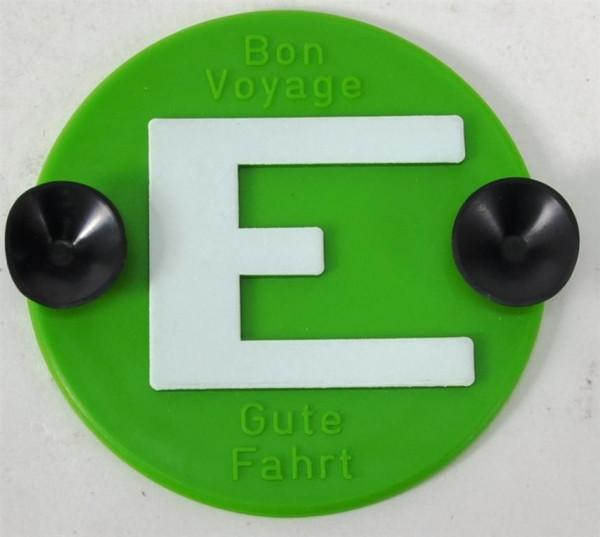 """Schild grün """"Gute Fahrt"""" ca. D: 8 cm"""