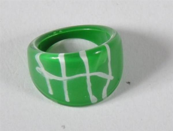 Ring Glasdesign farbl. sort. OPP, ca. 1,5x1,5 cm