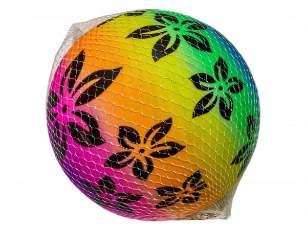 Beach Ball Blumen Design 80gr. Netz D: ca. 22cm