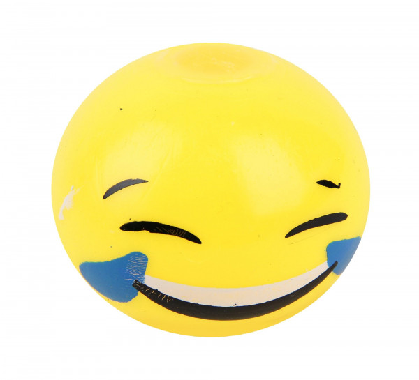 Knautsch Ball Emoticon, sort. DIS, D: ca. 5,5 cm