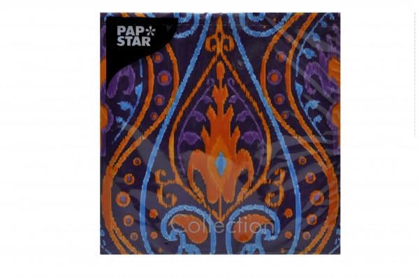 """Servietten Pap Star """"Oriental Ikat""""33x33cm 20Stück Pack Sorte 3"""
