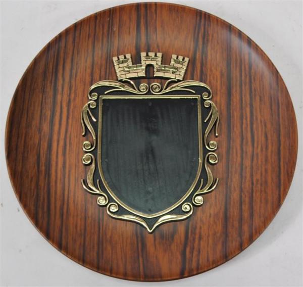 Wandteller m. Wappen D: ca. 22,5 cm